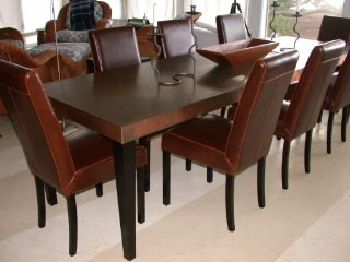 dining room table invitation dining table and chairs copper top dining